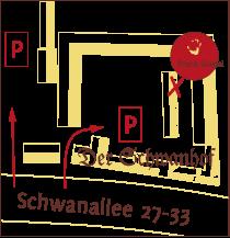 von der Schwanallee 29 nach rechts in Schwanhof
